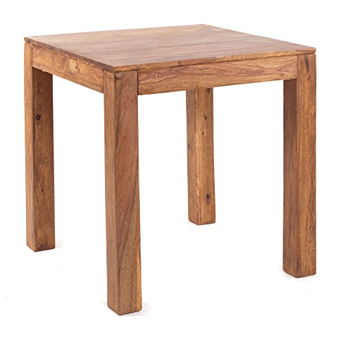 DESIGN DELIGHTS Table de bistrot Rustique | de sheesham Bois Massif, 71,1 cm | Table de Salle à Manger et Petit déjeuner