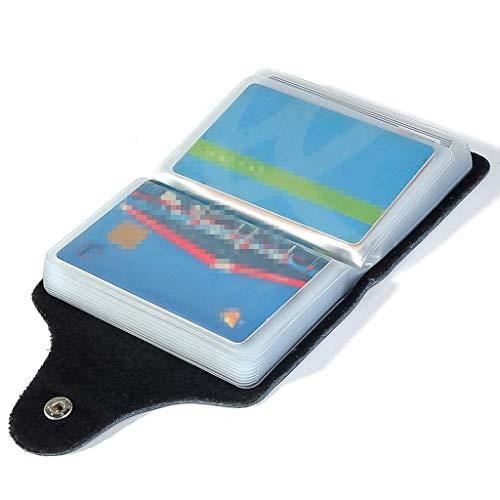 Schwarz Kreditkartenetui Damen Herren Kartenetui Kartenmappe Visitenkartenetui Leder Kreditkartenetui Damen Herren Kartenetui Leder - 26 Karten