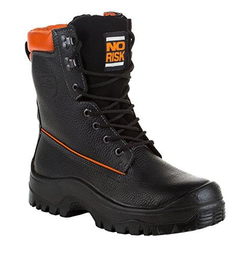 Modèle no risk no risk forstschutzstiefel-eN cuir de vachette, conformément à la norme eN iSO 203 45:20 11 s3 - Noir/orange