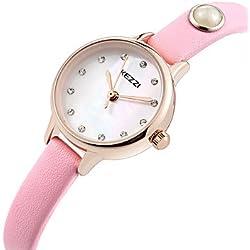 Damen Modeuhr / Armbanduhr Quartz / Echtes Leder Band Cool / Bequem Schwarz / Weiß / Blau / Rosa / Rose Marke