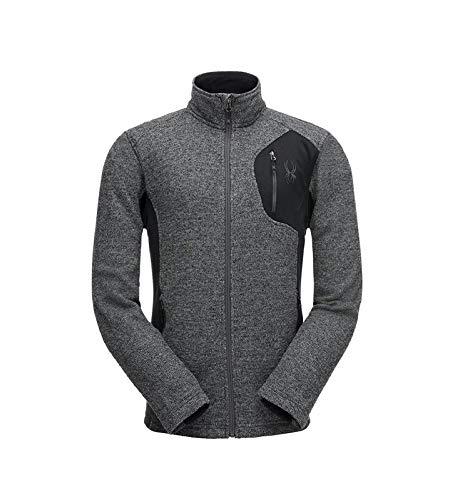 Spyder Herren Bandit FZ Stryke Jacke, Black/Polar, L Long Sleeve Polar Fleece
