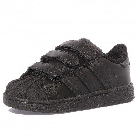 adidas Superstar Foundation CF I, Unisex Baby Wanderschuhe, schwarz - schwarz - Größe: 24