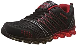 Steemo Men's Black and Red Running Shoes - 9 UK/India (43 EU)(STM1022)