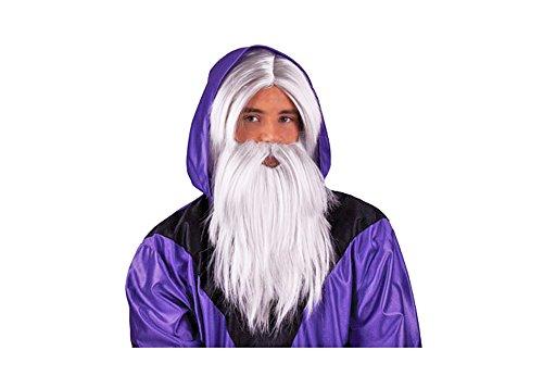 Zauberer Wizard Perücke mit Bart - Tolles Set für (Perücke Erwachsene Set Gandalf Bart Und)