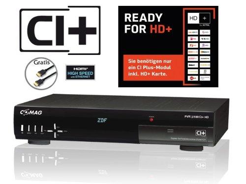 COMAG PVR2/100 CI+ HDTV Twin-Satelliten-Receiver (CI+, PVR, 500GB Festplatte, 2x SCART, 2x USB, 2x HDTV Sat-Tuner) schwarz inkl. HIGH-SPEED HDMI-Kabel