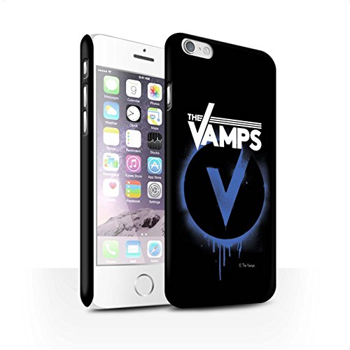 Offiziell The Vamps Hülle / Matte Snap-On Case für Apple iPhone 6 / Pack 6pcs Muster / The Vamps Graffiti Band Logo Kollektion Blau V