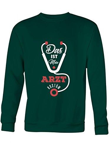 mium Sweatshirt | Kostüm | Karneval | Fasching | Unisex | Sweatshirts, Farbe:Dunkelgrün;Größe:M (Patienten Arzt Kostüm)