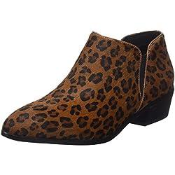 Cortefiel Pelo Leopardo, Botines para Mujer, Beige (Beige/Camel), 39 EU