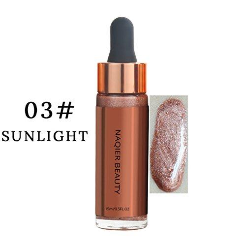 Allbesta Makeup Flüssigkeit Highlighter Illuminator Bronzer Gesicht Contouring Körper Brighten Shimmer Concealer Glow Primer