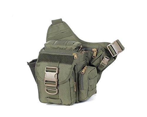 Zll/2015nuova fotocamera borsa tattico esercito fan Sella Borsa tempo libero all' aperto singolo Tracolla Slung, Verde militare Verde militare