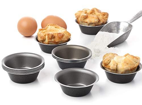 Maxi Nature Mini-Backformen für Muffins, Cupcakes, Eierkuchen, Kuchenformen, 7,6 cm, Schwarz, 12 Stück (Aluminium Muffin-pfanne)