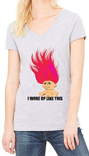 I Woke Up Like This Women's V-Neck T-shirt Gris