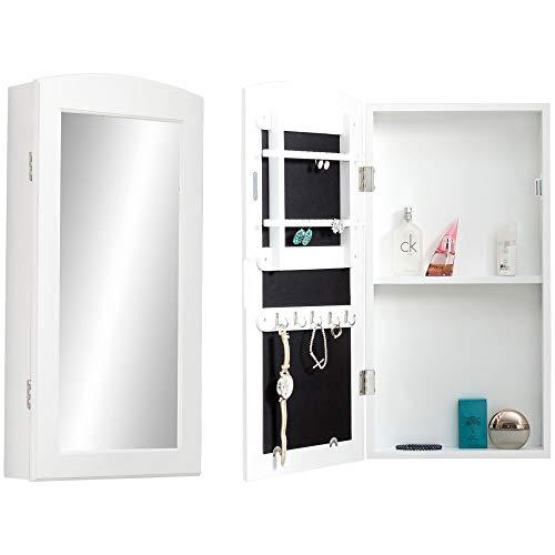 Wohnling Espejo de Pared, Blanco, 31 x 61 x 9 cm