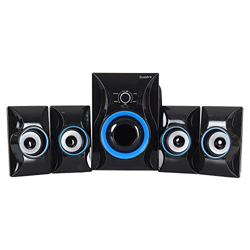 Sceptre HTSSD22KBT High Bass 4.1 Channel Multimedia Speaker System (Home Theater) with Remote & FM & Bluetooth & USB & Bass Controller