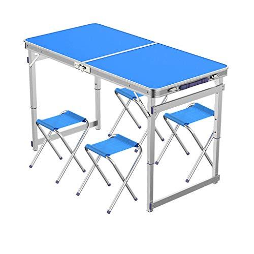 SMBYLL Klapptisch/Outdoor Klapptisch/tragbarer Kleiner Multifunktions Tisch/einfacher Aluminium-Esstisch Klapptisch (Farbe : C)