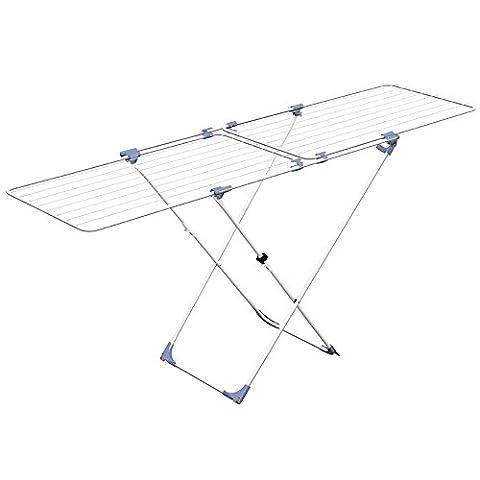 Gimi Duo Étendoir à poser sur le sol, extensible, en acier, 22 m d
