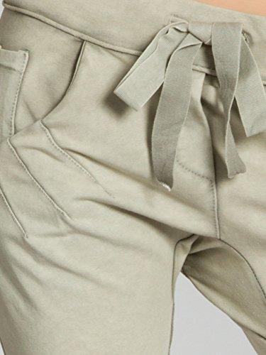 CASPAR BST008 Bermuda stonewashed femme - Short boyfriend en jersey vert clair