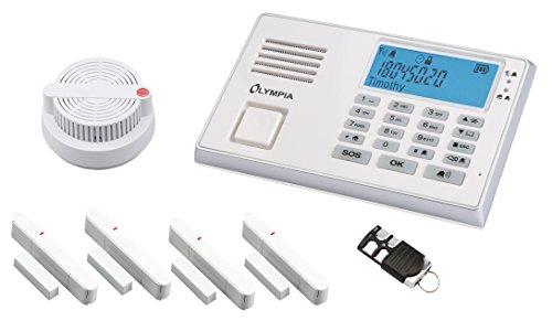Olympia 5955 Protect 9065 Drahtlose GSM Alarmanlage mit Notruf und Freisprechfunktion, App Steuerung...