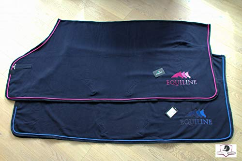 Equiline Abschwitzdecke Sprinter Farbe Pferdezubehör Navy/pink, Größe S