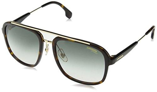 Carrera Unisex-Erwachsene 133/S 9K 2IK Sonnenbrille, Havana Gold/Green Shaded, 57
