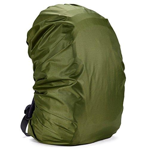 zantec Rucksack Regen Abdeckung verstellbar wasserdicht staubdicht tragbar Ultralight Schulter Tasche Schutzhülle Regenschutz Schutz für Outdoor Camping Wandern 35 Liter armee-grün (Leer, Kleinkind-shirts)