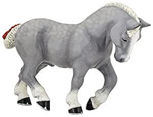Papo- Figura Caballo Percheron Gris 15X4X10CM, (51551)