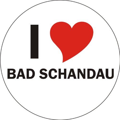 Preisvergleich Produktbild Aufkleber / Sticker / Autoaufkleber - I LOVE Bad Schandau - aussenklebend, rund, Größe: 80mm