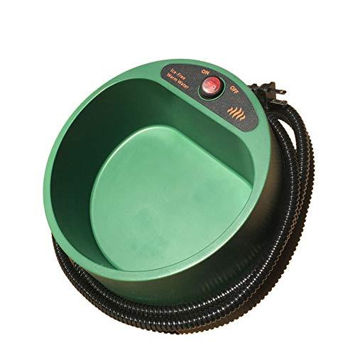 CWYSJ Intelligente Konstante Temperatur Heizung Pet Wasser Schüssel Katze Hund Basin Wassertablett Wasser Schüssel Wasserspender Warmwasserbereiter,Green-25 * 12cm -