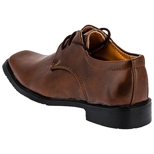 Solennelle été pour garçon chaussures, 3 modèles - #715 Braun