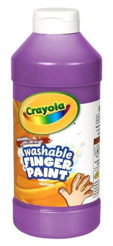 Crayola Washable Fingerpaint 32-Ounce Plastic Squeeze Bottle, Violet Purple by Crayola (Crayola Fingerpaint)