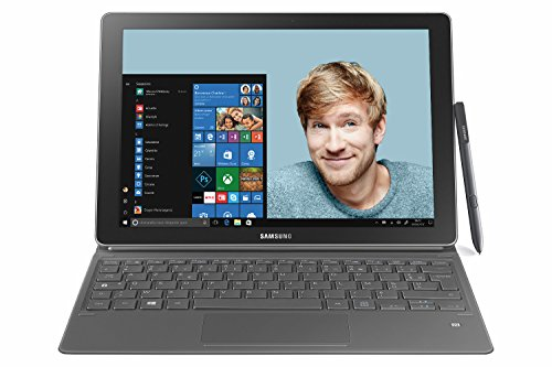 Samsung Galaxy Book 26,9 cm (10,6 Zoll) Touchscreen Tablet-PC (Intel Core M3, 4GB RAM, 64GB SSD, Windows 10) schwarz + Stylus S Pen + Tastatur-Bezug (französische Tastatur)