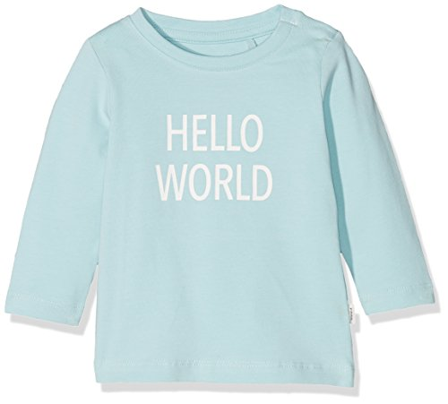 NAME IT NAME IT Unisex Baby T-Shirt NBNDELUFIDO LS TOP NOOS Blau (Canal Blue) 50