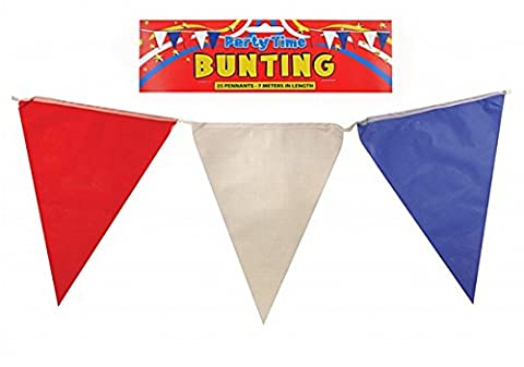 Plastik Dreieckiger Flagge Fahne - rot weiß und blau