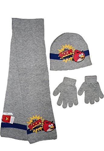 Kids Angry Birds-Winter-Hut Schal Handschuhe (Bird Kostüme Kinder Angry)