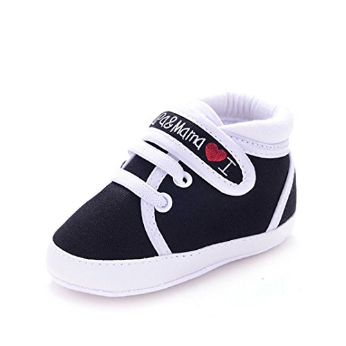 Transer® Baby Infant Kid Boy Girl soft sole Canvas Sneaker Toddler Shoes (13cm / 5,1
