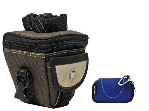 Foto Kamera Tasche Valley L mit Regencape Set mit Zubehör für Panasonic Lumix DMC- FZ200 FZ300 FZ1000 FZ72