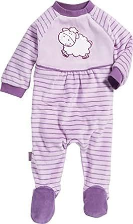 Playshoes Baby - Mädchen Schlafstrampler Schlafanzug Schlafoverall Nicki Schaf, Gr. 56, Violett (original 900)