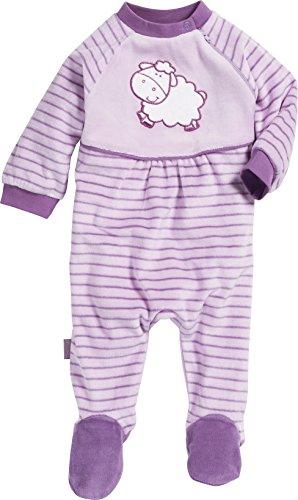 Playshoes Baby - Mädchen Schlafstrampler Schlafanzug Schlafoverall Nicki Schaf, Gr. 68, Violett (original 900)