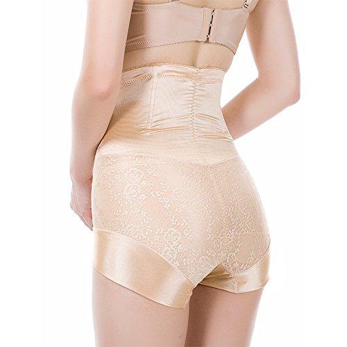 Fzmix Women Jacquard High Waist Shapers Butt Lifter Control Pants Panties Postpartum Belly Shaped Slimming Underwear Beige