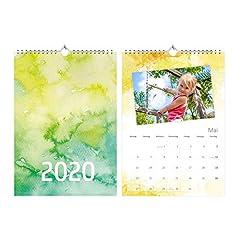 Idea Regalo - Foto-Calendario Calendario Watercolor con celebrazione giorni 2019