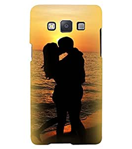 Printvisa Premium Back Cover Seaside Vector Pic Of A Romantic Couple Design For Samsung Galaxy A3::Samsung Galaxy A3 A300F