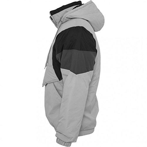 Urban Classics Nylon Hoody Veste mi-saison Grey / Black