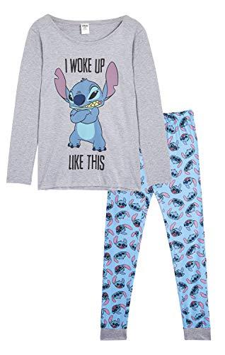 Disney Lilo y Stitch Pijama Mujer Invierno