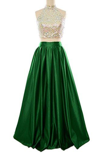 MACloth - Robe - Dos nu - Sans Manche - Femme Dark Green