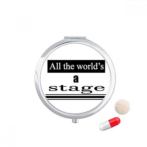 DIYthinker Reise-Taschen-Pillen-Kasten-Medizindrogenspeicher-Kasten-Zufuhr-Spiegel-Geschenk (Bühnen-drama)