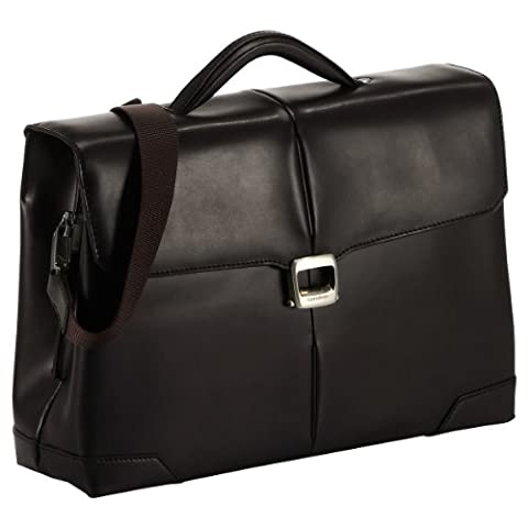 "Samsonite S-oulite Lth Briefcase 2 Gussets 15.6"", Uni Aktentasche Braun Dark Brown 42 cm"