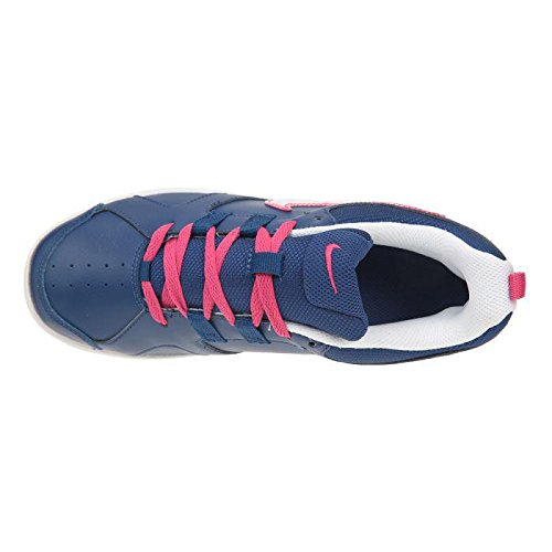 Nike Lykin 11 (Gs), Chaussures de Tennis Fille Bleu / Blanc / Marron (Insgn Bl / White-Gm Lght Brwn-Vv)