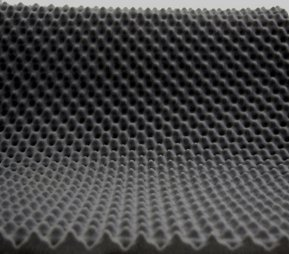 Preisvergleich Produktbild Akustikschaumstoff als Akustik Noppenschaumstoff - Platte 200x100x3cm (anth/schwarz) aus hochwertigem PUR-Schaumstoff