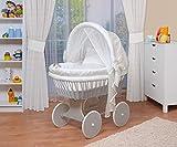 WALDIN Baby Stubenwagen-Set mit Ausstattung,XXL,Bollerwagen,komplett,44 Modelle wählbar