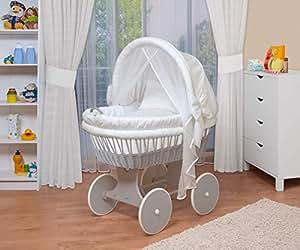 Waldin baby stubenwagen set mit ausstattung xxl bollerwagen